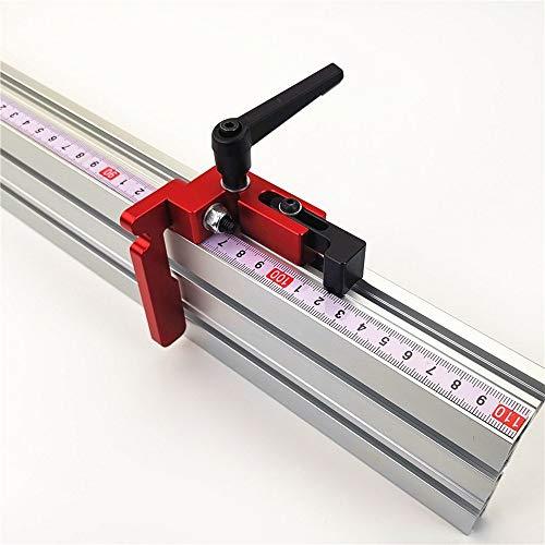 800mm 75 Typ T-Nut Aluminium Holzbearbeitung Backer Tischkreissäge T-Schienen mit Limiter(T-Nut+Limiter)