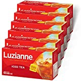 Luzianne Iced Tea Bags, Specially Blended for Iced Tea, Family Size, 48 Count Box (Pack of 6)