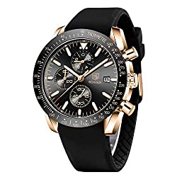 100% PREMIUM QUALITY WATCHES: We are providing watches for men with 100% Premium Quality quartz movement with analog and date display with incredibly durable and can last a lifetime when properly maintained with this man watch made clearly. Multi-Fun...