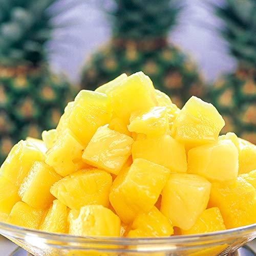 [餃子の王国]冷凍パイナップル 1kg (生のパイナップルをひと口サイズにカット、そのまま急速冷凍しました 冷凍フルーツ)