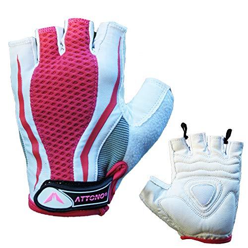 ATTONO Fitnesshandschuhe Damen Nordic Walking Sommer Fahrrad Handschuhe - Größe 7