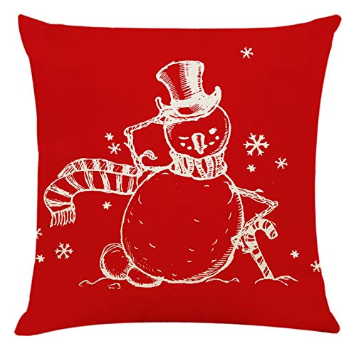 BBQQ Cushion Cover Christmas Pattern Sofa Car Throw Cushion Cover Home Decor Christmas Decorations Clearance Tree Ornaments Rock Topper Lights Pyjamas for Families