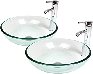 Phenomenal Amazon Com Glass Bathroom Sinks Bathroom Fixtures Download Free Architecture Designs Embacsunscenecom