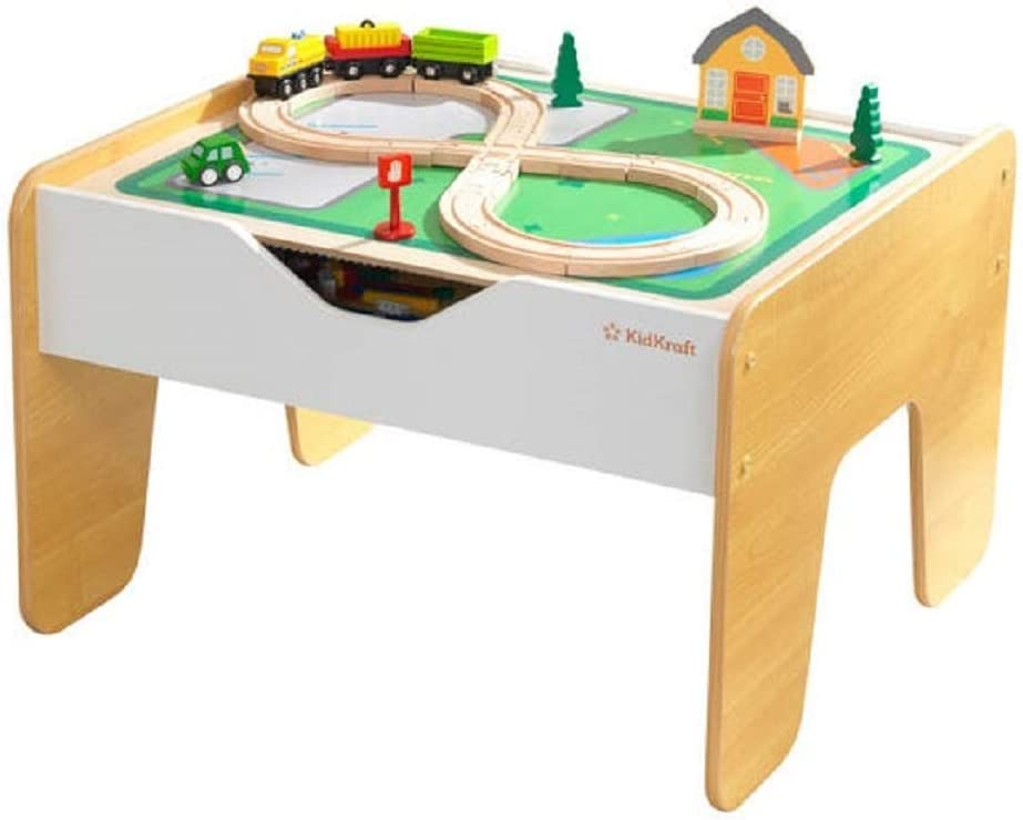 KidKraft Very popular 10039 2-in-1 Activity Table and with Board Gray Natural Max 82% OFF
