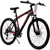 26 Inch Mountain Bike, 21 Speed Bicycle with Full...