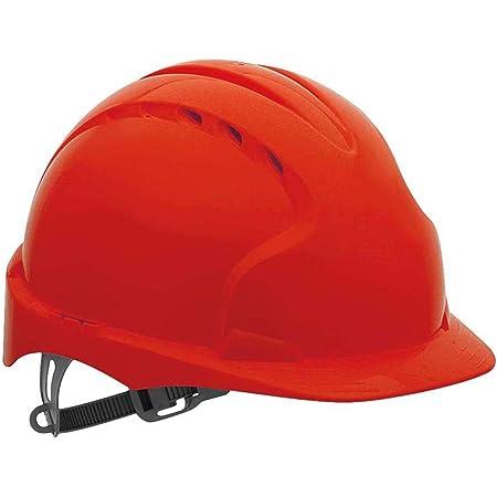Casco di sicurezza EVO2 con cricchetto antiscivolo - Rosso - Ventilato (JSP AJF030-000-600)