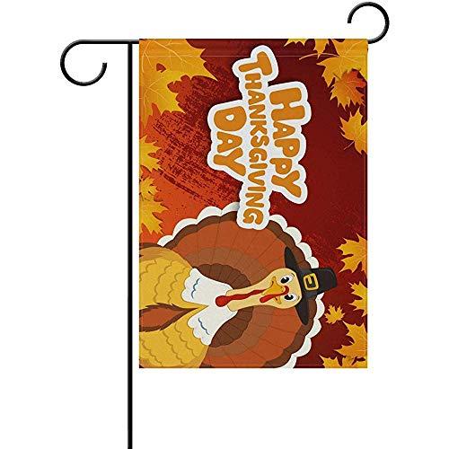 KL Decor Outdoor Yard Flag,Danksagungs-Lustige Türkei Bunte Flagge Banner Für Heim Hinterhof Rasen