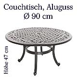 Hanseatisches Im- & Export Contor GmbH Gartentisch, Aluguss (Couchtisch, rund, Ø 90 cm, Höhe 47 cm)