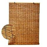 Persianas Enrollables de Bambú - Persianas de Caña - Cortinas Opacas,Sala de Estar Salón de Té Tienda Decoración Partición de Cortina de Paja Vintage,para Exteriores Interiores(80x220cm/32x87in)