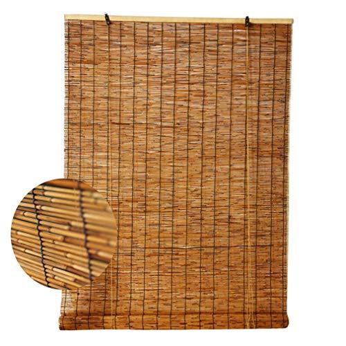 Persianas Enrollables de Bambú - Persianas de Caña - Cortinas Opacas,Sala de Estar Salón de Té Tienda Decoración Partición de Cortina de Paja Vintage,para Exteriores Interiores(50x60cm/20x24in)