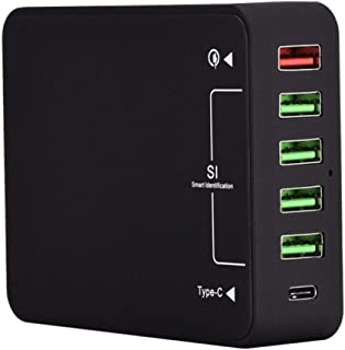 Multi-port USB Hub, Mobile Phone Charger Qc3.0 Fast Charge Type-c Charging Head 8A Smart 6USB Charger