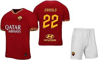 Zaniolo #22 2019-2020 AS Roma Men's Home Soccer Jersey/Short Colour Red