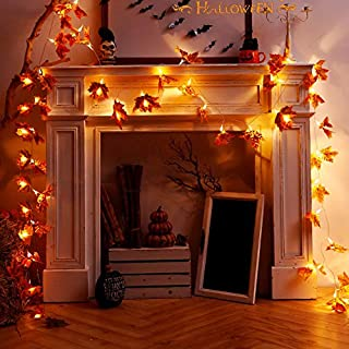 OKBA 2 Pack 100 LED Christmas Fall Decorations Lights for Home Clearance Fall Garland Decor Outdoor Office Yard Kitchen Fi...