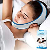Anti Snoring Chin Strap for CPAP Users Mouth Breather Adjustable and Breathable Effective Stop Snoring Snore Stopper for Men and Women
