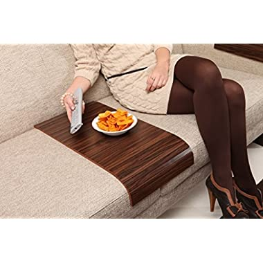 Sofa Tray Table - Long ( Brazilian Walnut ), Sofa Arm Tray, Armrest Tray, Sofa Arm Table, Couch Tray, Coffee Table, Sofa Table,Wood Tray,Wood Gifts