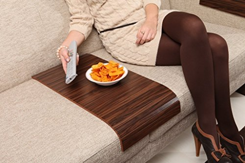 Sofa Tray Table - Long (Brazilian Walnut), Sofa Arm Tray, Armrest Tray, Sofa Arm Table, Couch Tray, Coffee Table, Sofa Table,Wood Tray,Wood Gifts