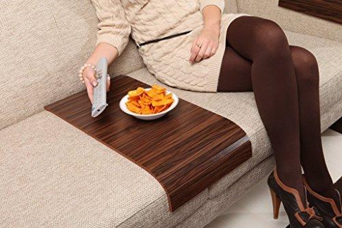 Sofa Tray Table - Long (Brazilian Walnut), Sofa Arm Tray, Armrest Tray, Sofa Arm Table, Couch Tray, Coffee Table, Sofa Table,Wood Tray,Wood Gifts
