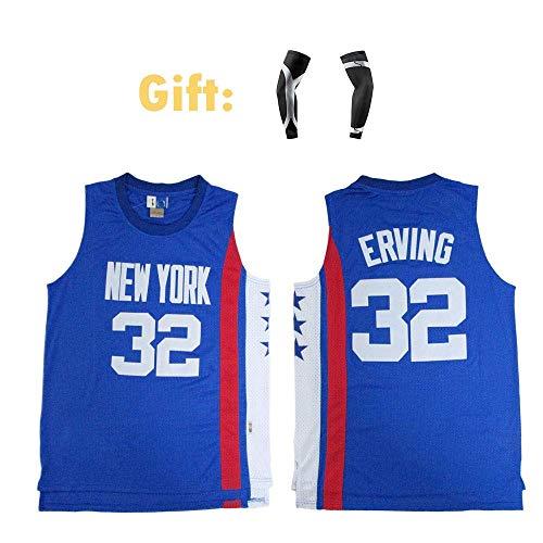 CCKWX heren Basketbal truien - Brooklyn Nets #32 Allen Iverson trui, Cool ademende stof Unisex Mouwloos T-Shirt+mouw