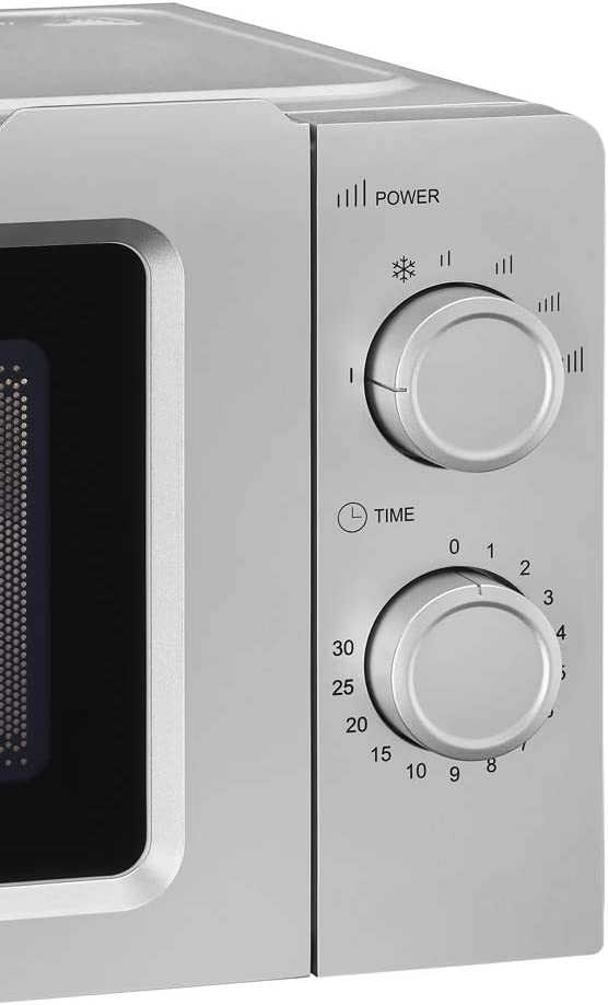 Exquisit Mikrowelle MW 717-7 SI/Silber / 700 Watt / 17 Liter Garraum Silber