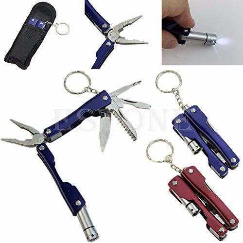Portable 9 en 1 Pince Multi Poche extérieure Outil en acier inoxydable Mini Camping Kit