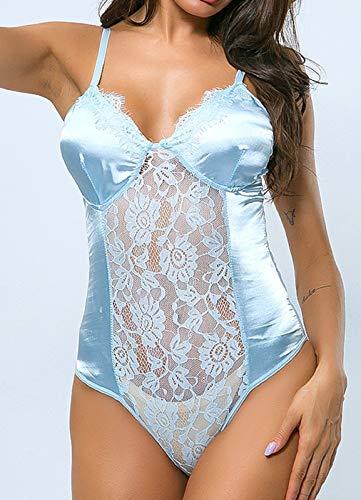 RELA RELA Mujeres lencería Sexy con Aros de Encaje Floral con Aros Body (Ropa)