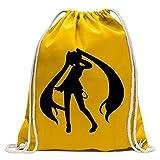 Kiwistar Manga fille Fun sac à dos sport sac de remise en forme Gymbag shopping coton avec cordon
