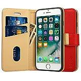Labato iphone8 ケース 手帳型 iPhone SE2 ケース iphone7ケース 手帳型 あいふぉん8ケース 人気 カード収納 スタンド PUレザー スマホケース8 (iphone8,レッド)
