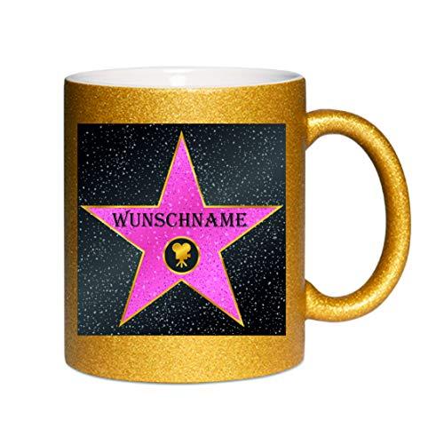 Glitzertasse (gold)