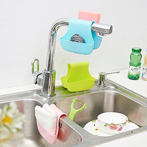 Ankunft Doppel Side Sink Schwammhalter Geschirr Wäscheständer Kitchen Storage Organizer