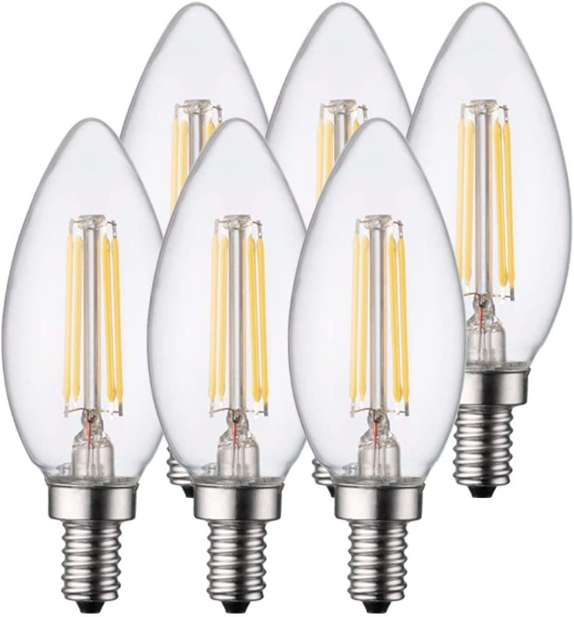 TCP LED 25 Watt Equivalent 6 Filament B11 Pack Genuine Long Beach Mall Chande Dimmable
