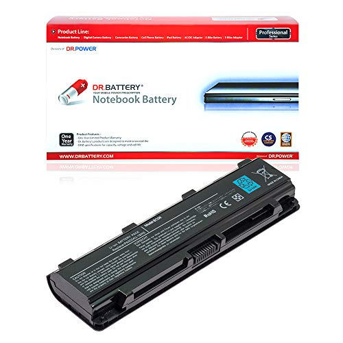 Dr. Battery Lavolta - Batería para Toshiba PA5024U-1BRS PABAS260 PABAS262 PA5027U-1BRS PA5026U-1BRS PA5025U-1BRS PA5023U-1BRS Satellite C850 C855 L850 L870 P850 PABAS259 10. 8 V/4400 mAh/48 Wh.