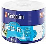 Verbatim 43794 52x 700MB CD-R Inkjet Printable 50er Packung Rohlinge - Matt Silber