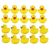 VektenxiGelbe Enten für Bade Gummienten Badestrand Spielzeug für Kinder Kinder 20er Pack Langlebig und nützlich