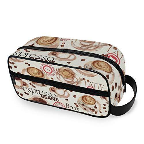 Trousse de toilette Café Thé Temps Outils Cosmétique Train Case Portable Stockage Maquillage Sac Boîte Voyage