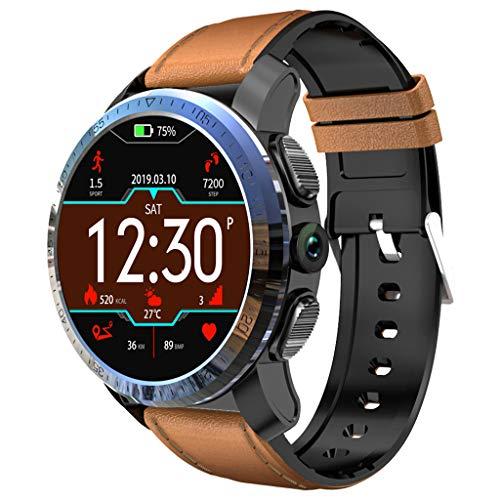 CAOQAO Reloj Inteligente Hombre KOSPET Optimus 2GB + 16GB AMOLED 4G Dual Chip 8.0MP 800mAh IPX67 SmartWatch Compatible para iPhone Xiaomi Huawei Samsung