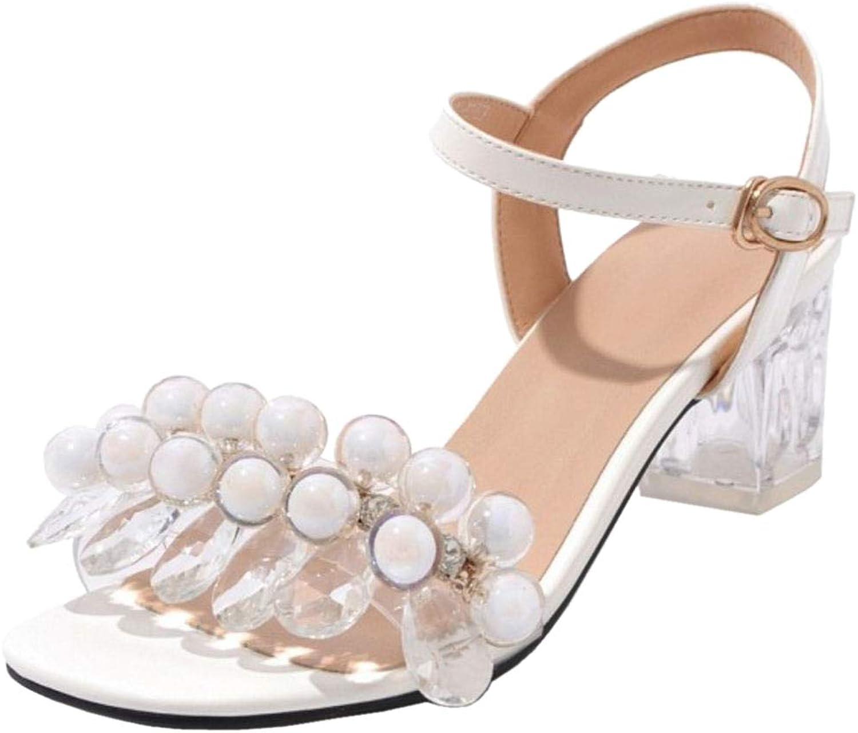 CularAcci Women Comfort Mid Heel Sandals