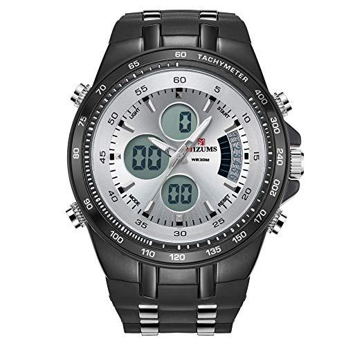 Reloj para Hombre de Moda Relojes analógicos de Cuarzo con Correa de Cuero -B