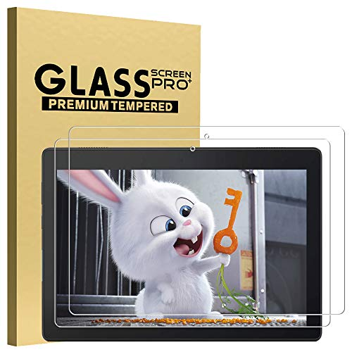 GOZOPO - Protector de pantalla de vidrio templado para Lenovo Tab M10 TB-X505F/TB-X605F - 10,1 pulgadas 2019/2018, resistente a los arañazos