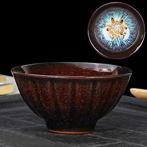 STZLY Horno Hermosa decoración de Transmutación Kongfu Bowl taza de té de cerámica, 01, capacidad: 60 ml, tamaño: pequeño, 7,1 x 3,7 cm set de té