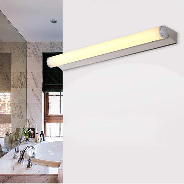 Edelstahl LED-Spiegel Vordere Scheinwerfer, einfache und moderne Badezimmer Spiegelschrank Licht Licht Schlafzimmer Wand Lampe Make-up-Lampe (Farbe  warmes Licht, Gre  60 cm-8W)
