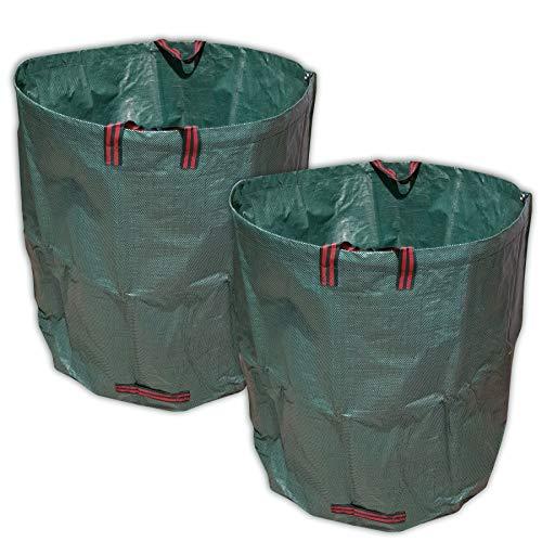 vabiono 2X 500 Liter Gartensack Laubsack Premium aus solidem Polypropylen-Gewebe (PP) 150g/m²