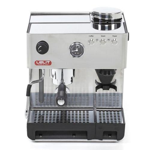 Lelit Anita PL042EMI semi-professionelle Kaffeemaschine mit integrierter Kaffeemühle, ideal für Espresso-Bezug, Cappuccino und Kaffee-Pads-Edelstahl-Gehäuse, rostfrei, 2.7 liters