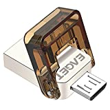 USB OTG Flash Drive Data traveler, EAGET V9 16GB Flash Memory Stick Metallic Dual Port Micro USB + USB2.0 Pen Drive with Compact Size Waterproof & Shockproof for Android Smartphones, Galaxy,Tablets/PC