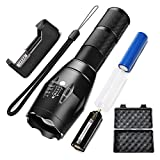 Power King LED Tactical Flashligh -Super Bright High Lumen, Zoomable, 5 Modes, Water Resistant, Handheld Light, Adjustable Military Tac Light, Best Camping, Outdoor, Emergency, Everyday Flashlights