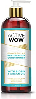 Active Wow Hair Growth Conditioner - DHT Blockers with Argan Oil & Organic Botanicals, 16 Fl Oz