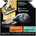 SHEBA PERFECT PORTIONS Soft Wet Cat Food Cuts in Gravy Signature Tuna Entrée & Roasted Chicken Entrée Variety Pack, (6) 2.6 oz. Easy Peel Twin-Pack Trays