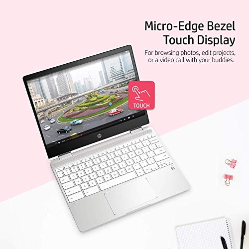(Renewed) HP Chromebook Intel Celeron 12-Inch (30.48 cms) Touchscreen 1366 x 768 (HD Ready) Laptop (4 GB/64 GB SSD/Chrome OS/Intel UHD Graphics 600/Natural Silver/2.17 Kg), 12b-ca0010TU
