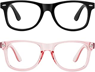 MEETSUN 2-Pack Large Blue Light Blocking Glasses Women/Men,Retro Classic Eyeglasses Anti Eyestrain Computer Gaming Glasses...