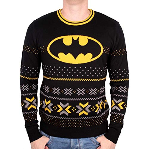 DC Comics - Batman Winter Pulli - Ugly Christmas Sweater Weihnachtspullover - Unisex (S)