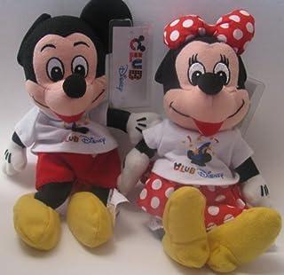 Disney Bean Bag Plush Mickey Mouse and Minnie Mouse Club Disney